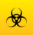 Bio hazard sign danger symbol warning vector image