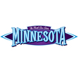 Minnesota The North Star State vector image