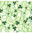 seamless shamrock leaves vector image