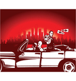 Urban background with gangsters Vector Image