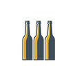 Beer Bottles Retro vector image