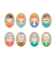 Big happy family portraits vector image
