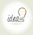 Bulb light idea vector image