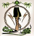 fashion shoe design vector image