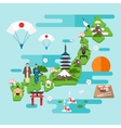 Infographics about Japan vector image