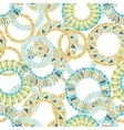 Colorful ethnicity round ornament seamless pattern vector image