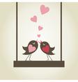Bird of love9 vector image vector image