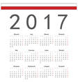 Square Polish 2017 year calendar vector image