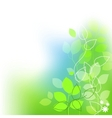 fresh leaves summer background vector image
