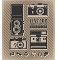 Hipster style elements and icons vector image