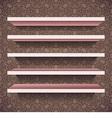 five shelves vector image