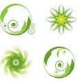 green abstract symbols vector image vector image