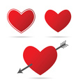 heart with arrow in red vector image