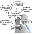 Project Management diagram vector image vector image