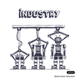 Factory is making robots vector image vector image