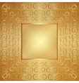abstract wide metal gold frame with ornament vector image