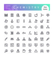chemistry line icons set vector image