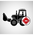 construction truck concept road sign stop design vector image