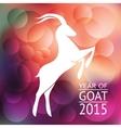 goat banner vector image