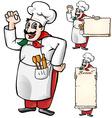 italian chef set isolated vector image