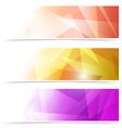Modern triangular web banner collection vector image