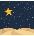 night starry landscape icon vector image