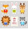 set of cartoon animals vector image