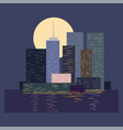skyline in city by night vector image