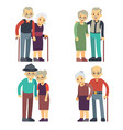 smiling and happy old couples elderly families vector image