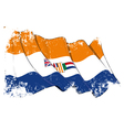 South Africa 1928 1994 Flag Grunge vector image