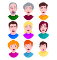 extremely surprised young people shock portrait vector image