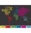 Global population World map vector image vector image