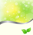 Ecology card with green leaves vector image