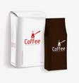 vacuum package of coffee vector image