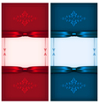 Vintage invitation cards red and blue vector image vector image