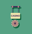 flat icon design collection casino street banner vector image