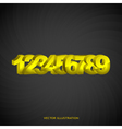 Numbers vector image vector image