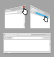 Modern web browser template vector image vector image