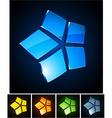 3d vibrant stars vector image