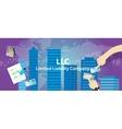 Acronym LLC as limited liability company vector image