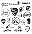 Collection of music and sound related elements vector image