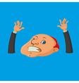 drowning man cartoon vector image