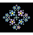 Gem Flowers vector image