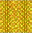 Gold seamless knitted sweater pattern Christmas vector image