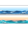 Horizontal seamless seascape set vector image