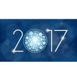 New year 2017 with white vector image