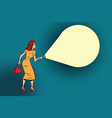 woman light flashlight vector image