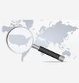 world map usa vector image