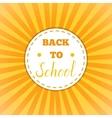 Back to school retro round sticker vector image