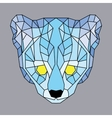 Blue lined low poly ocelot vector image